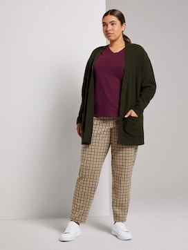 Checked fabric trousers with an elastic waistband - 3 - My True Me