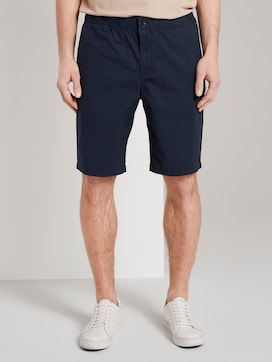 Morris Relaxed Chino-Shorts mit elastischem Bund - 1 - TOM TAILOR