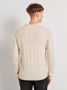 Sweater with knitting pattern - 2 - TOM TAILOR Denim