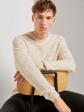 Sweater with knitting pattern - 5 - TOM TAILOR Denim