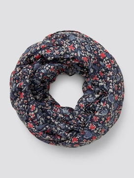 Tubular scarf with a floral pattern - 7 - TOM TAILOR
