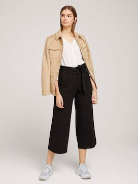 Culotte pleated trousers with a tie belt - 3 - TOM TAILOR Denim