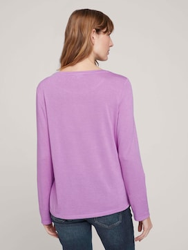 T-Shirt in Melange Optik - 2 - TOM TAILOR