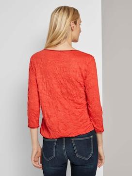 Crincle-Shirt mit elastischem Bund - 2 - TOM TAILOR