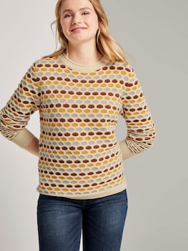 Colourful honeycomb sweater - 5 - TOM TAILOR Denim