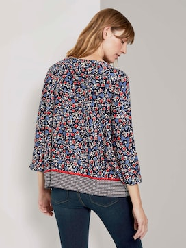 3/4-Arm Bluse mit Blumenprint - 2 - TOM TAILOR