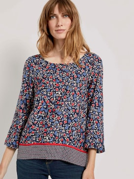 3/4-Arm Bluse mit Blumenprint - 5 - TOM TAILOR