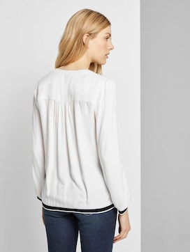 Henley-Bluse mit Tapedetail - 2 - TOM TAILOR