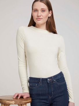 long-sleeved shirt with a short stand-up collar - 5 - TOM TAILOR Denim