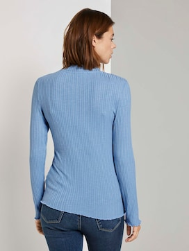 Long-sleeved top with a stand-up collar - 2 - TOM TAILOR Denim