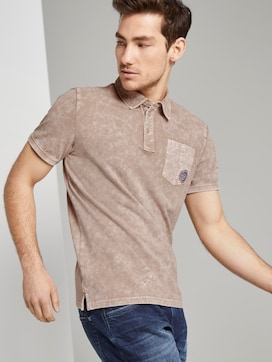Polo hemd met Washed-look met print - 5 - TOM TAILOR