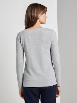 Long-sleeved top with a lace trim - 2 - TOM TAILOR