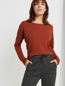 Basic Pullover aus Organic Cotton - 5 - TOM TAILOR Denim