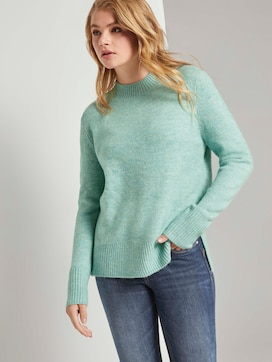 Mottled sweater with a stand-up collar - 5 - TOM TAILOR Denim