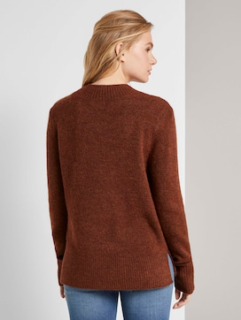 Mottled sweater with a stand-up collar - 2 - TOM TAILOR Denim