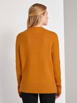 Melierter Pullover mit Stehkragen - 2 - TOM TAILOR Denim