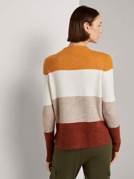 Gestreepte trui met opstaande kraag - 2 - TOM TAILOR Denim