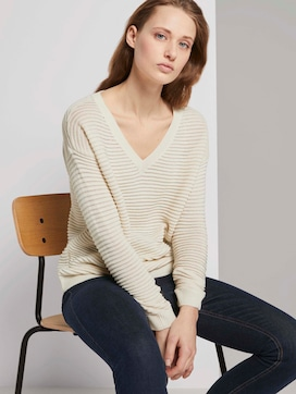 Pullover mit Ottoman Struktur - 5 - TOM TAILOR Denim