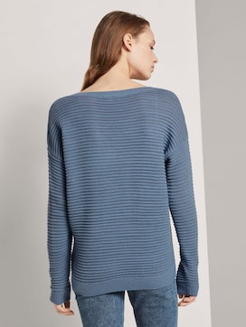 Pullover mit Ottoman Struktur - 2 - TOM TAILOR Denim
