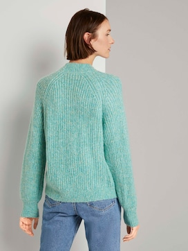 Turtleneck pullover with balloon sleeves - 2 - TOM TAILOR Denim