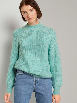 Turtleneck pullover with balloon sleeves - 5 - TOM TAILOR Denim