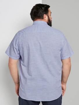 Multi-coloured short-sleeved shirt with a chest pocket - 2 - Men Plus