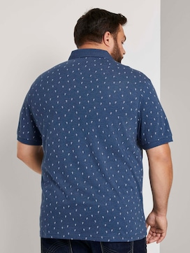 Polo shirt with a cactus print in a melange look - 2 - Men Plus