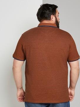 Zweifarbiges Poloshirt mit Logo-Stickerei - 2 - Men Plus