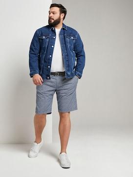 Gemusterte Josh Regular Slim Bermudashorts mit Gürtel - 3 - Tom Tailor E-Shop Kollektion