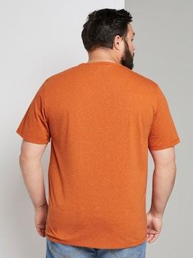 Meliertes T-Shirt mit Print - 2 - Men Plus