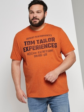 Meliertes T-Shirt mit Print - 5 - Tom Tailor E-Shop Kollektion