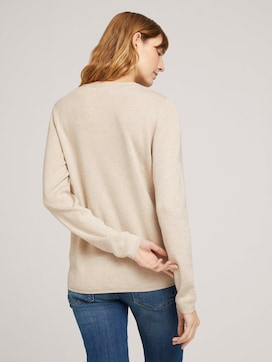 sweater with contrasting stripes - 2 - TOM TAILOR