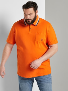 Polo shirt with a chest pocket - 5 - Men Plus