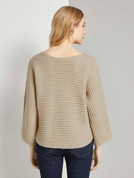 Mottled sweater with bat sleeves - 2 - TOM TAILOR