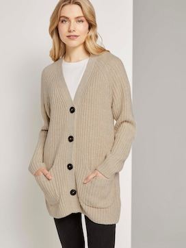 Long cardigan in a melange look - 5 - TOM TAILOR