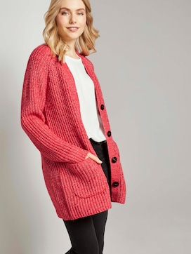 Langer Cardigan in Melange-Optik - 5 - TOM TAILOR