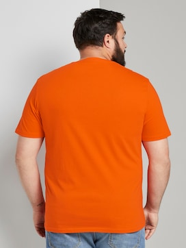 T-shirt with a contrasting print - 2 - Men Plus
