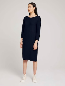 Knitted ottoman dress - 5 - TOM TAILOR