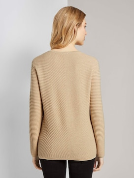 Sweater with a zigzag structure - 2 - TOM TAILOR