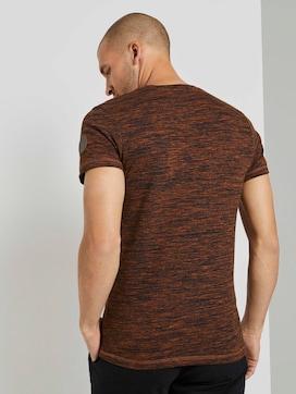 Meliertes T-Shirt mit Brusttasche - 2 - TOM TAILOR