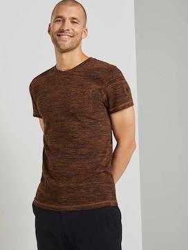 Meliertes T-Shirt mit Brusttasche - 5 - TOM TAILOR