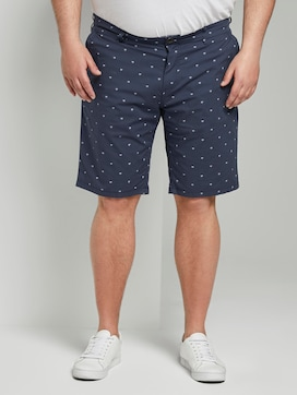Gemusterte Josh Regular Slim Bermuda-Shorts - 1 - Men Plus