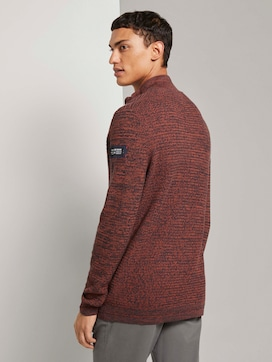 Troyer Pullover in Melange Optik  - 2 - TOM TAILOR Denim