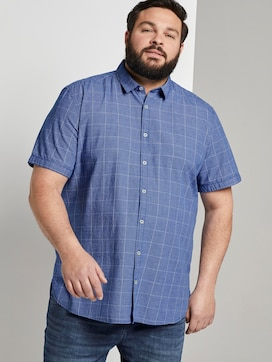Geruite shirt met korte mouwen - 5 - Men Plus