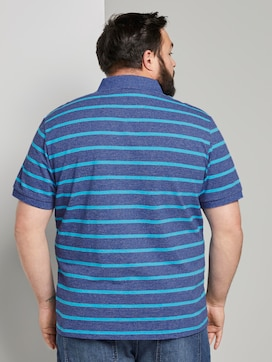 Striped polo shirt with small embroidery - 2 - Men Plus