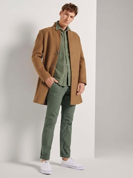 Straight textured chino trousers with a belt - 3 - TOM TAILOR Denim