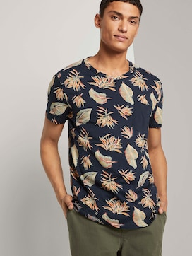 Patterned T-shirt with a chest pocket - 5 - TOM TAILOR Denim
