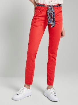 Alexa slim jeans with a tie belt - 1 - TOM TAILOR