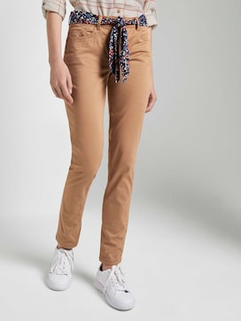 Alexa Slim Jeans mit Bindegürtel - 1 - TOM TAILOR