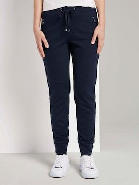 Loose-fit trousers with zip pockets - 1 - TOM TAILOR